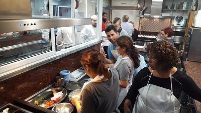 Visita a Terra d'Escudella de los alumnos de Hostelería en MasterD Barcelona<