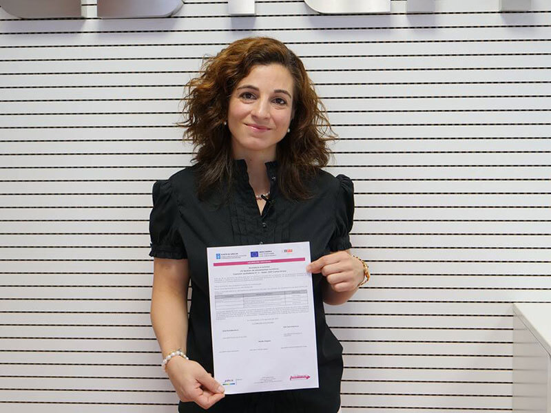 Teresa obtiene el certificado de profesionalidad<