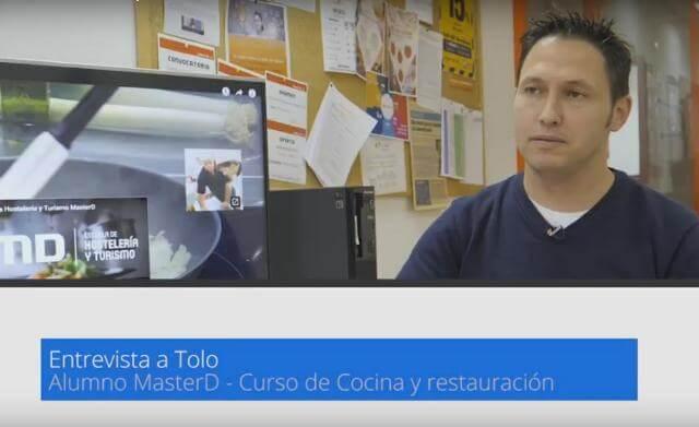 Tolo, alumno de Cocina y Restauración, colabora con MasterD Mallorca<